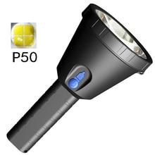 Перезаряжаемый фонарик High Lumens XHP50 LED Super Bright By 18650 Аккумуляторная лампа Фонарик