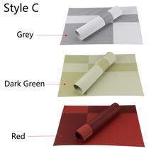 4 pcs/lot PVC Decorative Vinyl Place mats for Dining Table Runner Linen Place Mat in Kitchen Accessories Cup Coaster Pad