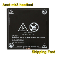Anet 3mm Black MK3 Heatbed Latest Aluminum Heated Bed MK2B Upgraded MK2A For Mendel RepRap 3D