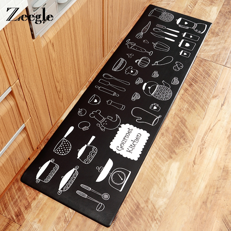 Zeegle PVC Kitchen Carpet Balcony Table Chair Floor Mat Outdoor Doormat Anti slip Area Rug Kitchen