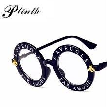 998e8eba8 طيدة L'AVEUGLE الاسمية العمور جولة النظارات الشمسية النساء والرجال الأسود  الوردي إطار Colurful عدسة كازينو رقاقة نمط Oculos دي س.
