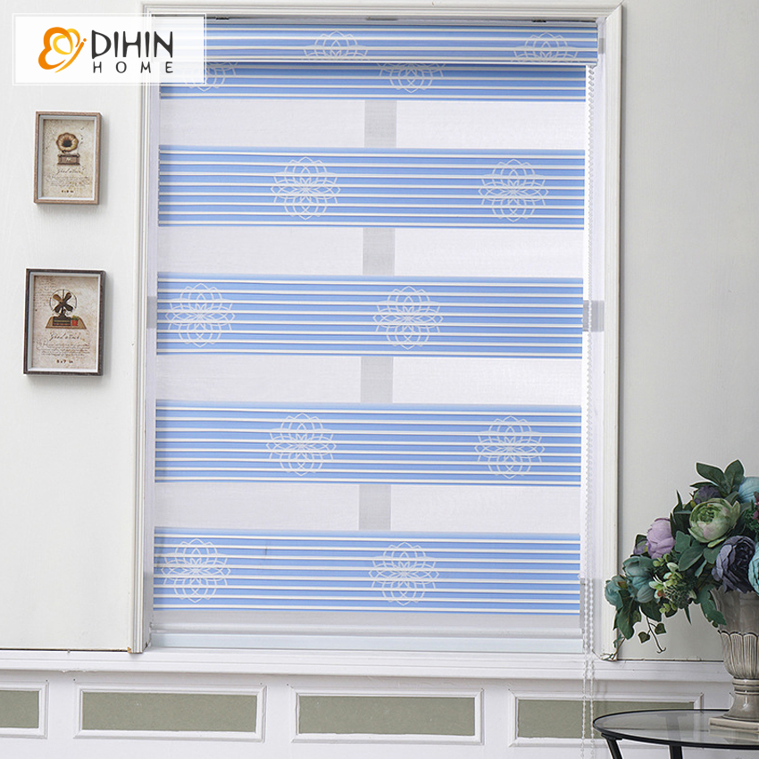 066208691a DIHIN HOME Luxury Blackout Curtains Thickening Roller Shutter Double ...