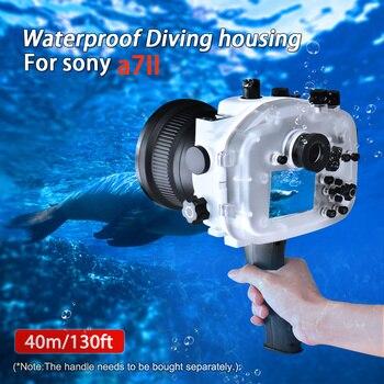 Seafrogs 40m/130ft Underwater Waterproof Housing Case For Sony A7 II A7R II A7S II Support 28-70mm lens w/ Fisheye w/ Handle