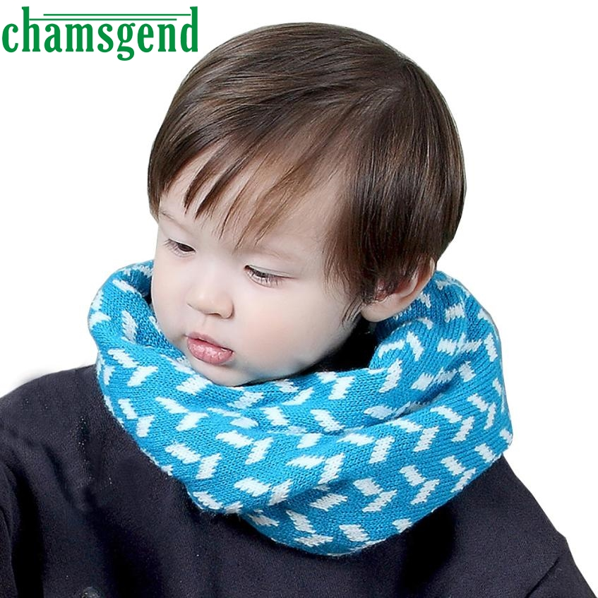 Baby wool knit warm neck sleeve neck Autumn Winter Boys Girls Print Collar Baby Scarf Knitted O Ring Neck Scarves ot19 p30