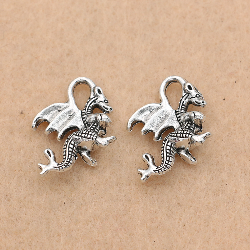 Pendants 20 pce Metal Antique Silver Fairy Tinker Bell Charm