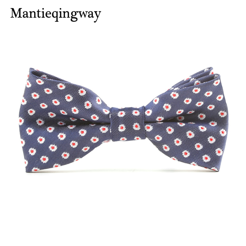 Mantieqingway Children Bowtie Casual Polyester Bow Tie for Boys Dot Neckwear Kids Bowtie Formal Suits Red Bowtie Ties Party