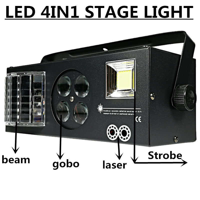 60W LED laser light beam light strobe light pattern light 4in1 effect professional stage equipment