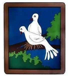 Dove Frame by Siam Magic/Dove out from Board/Stage magic/Magic prop/as seen on tv/ Free shipping by CPAM! magic