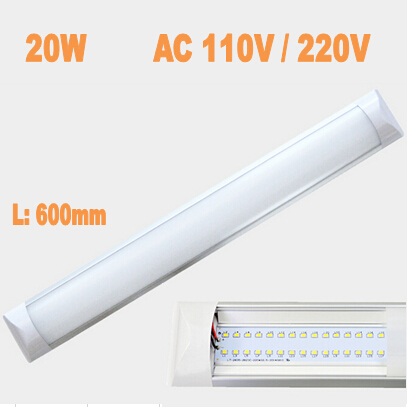 New LED Ceiling Lamp tube 600mm 20W AC110V / 220V smd 2835 epistar aluminum pc case anti-dust Super Slim led light bar grid led
