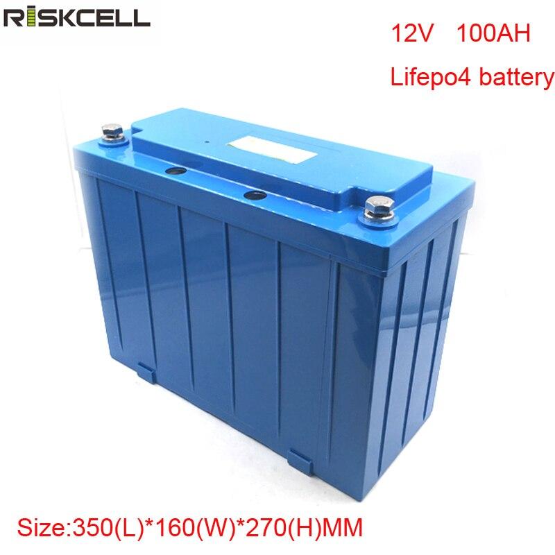 Pas de taxes à décharge profonde solaire batterie E-Fauteuil Roulant E-moteur EV 12 v 100ah lifepo4 batterie