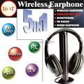 2 pçs/lote 5 Em 1 FM Hi-Fi Wireless Monitor de Fones De Ouvido Com Microfone Fones de Ouvido Sem Fio Para MP3 PC TV CD de Áudio