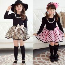 Christmas Baby Girls Princess Polka Dot Plaid Party Wedding Full Fancy Dress 2 7