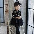 Дети кашемир платье зимы детей звезды утолщенной Платье Принцессы детские платья тавра девушки плюс велет платье малышей одежда