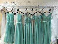 Sıcak Satış Romantik Pastel Şifon Sevgiliye Kat Uzunluk gelinlik giydirme vestido de madrinha de casamento longo BMD92