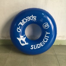 Inflatable lifesaving ring PVC inflatable 90CM inflated adult circle