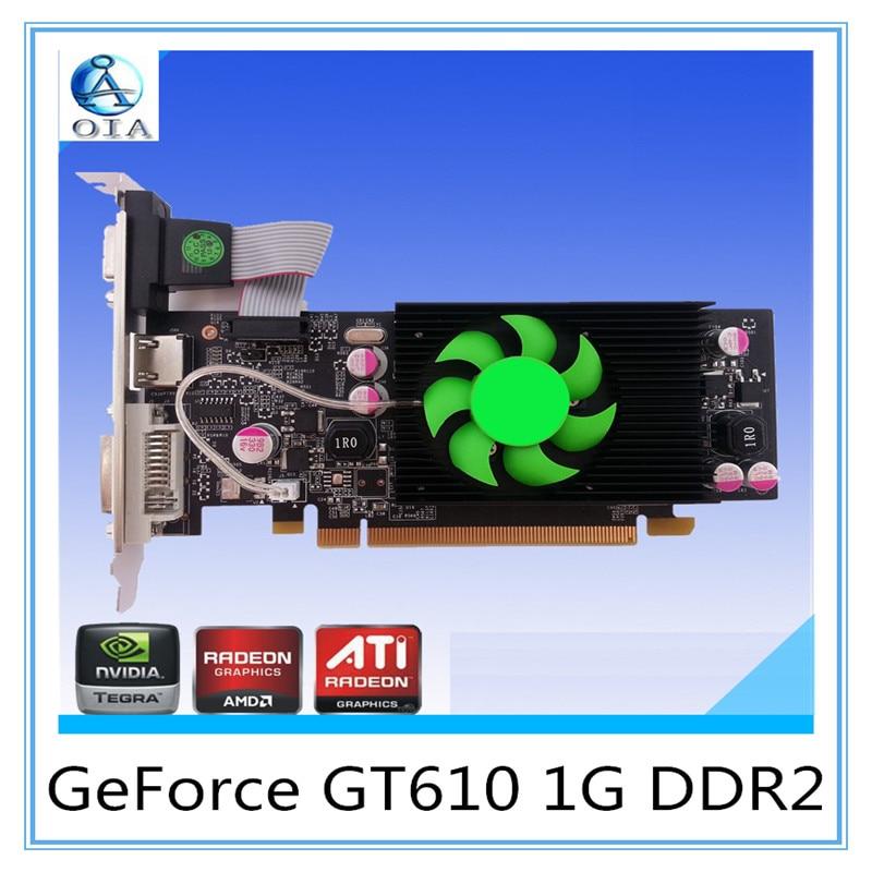 New Original Desktop Graphics Card GT610 1G DD2  64BIT   Independent   Game Video Card New  card free shipping