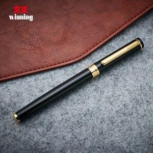 Image 4 - High End Winnende 598 Roller Ball Pen Met Geschenkdoos Zilver En Goud Clip 0.5Mm Teken Pennen De beste Cadeau Voor Business En Student