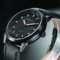 Crrju moda esportes homens relógios top marca de luxo data relógio de quartzo homem de couro dos homens do exército militar relógio de pulso relogio masculino