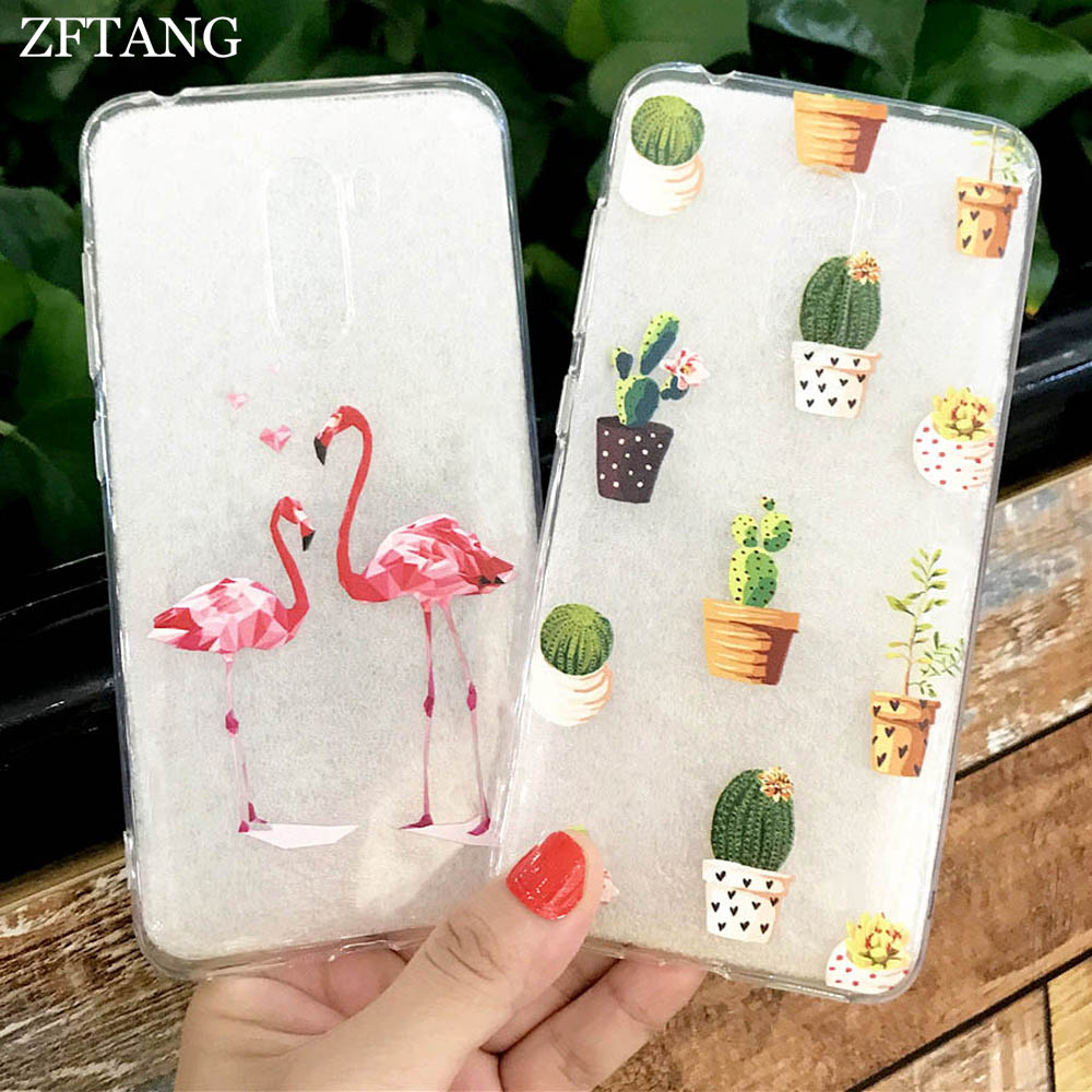 ZFTANG For Coque Xiaomi Pocophone F1 Case Silicone Soft TPU Back Flower  Cactus Phone Cases For