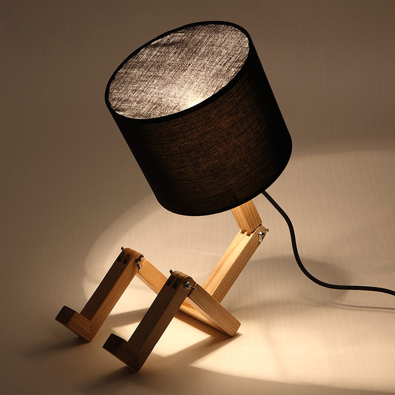 European Style Wood Table Lamp Wooden Bedside with Fabric Lampshade lamparas de mesa Desk Light Deco Luminaria For Living Room botimi wooden table lamp with fabric lampshade bedside desk lights lamparas de mesa book lamps deco luminaria reading lighting