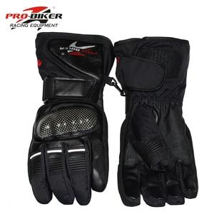 Image 2 - Pro Biker Guantes Motorcycle Gloves Waterproof Leather Gloves Motorcycle Winter Warm Full Finger Motocross Motorbike Moto Glove