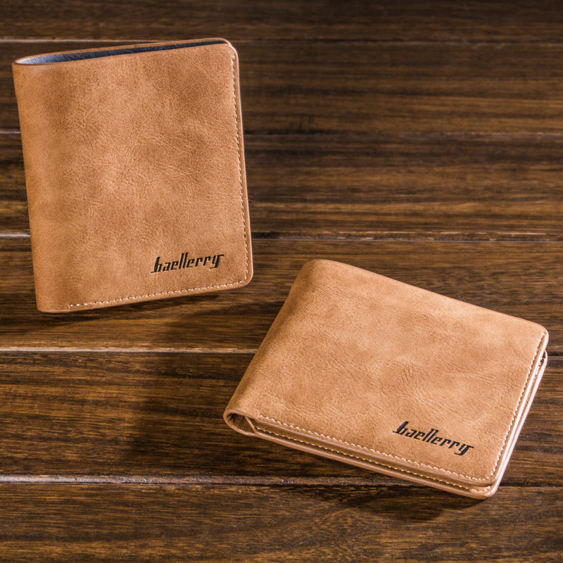 New Fashion 100% Genuine Cow Leather Men Wallet Short Purse Small Vintage Men's Wallet Brand Top Quality Vintage Designer 2017 new wallet small coin purse short men wallets genuine leather men purse wallet brand purse vintage men leather wallet