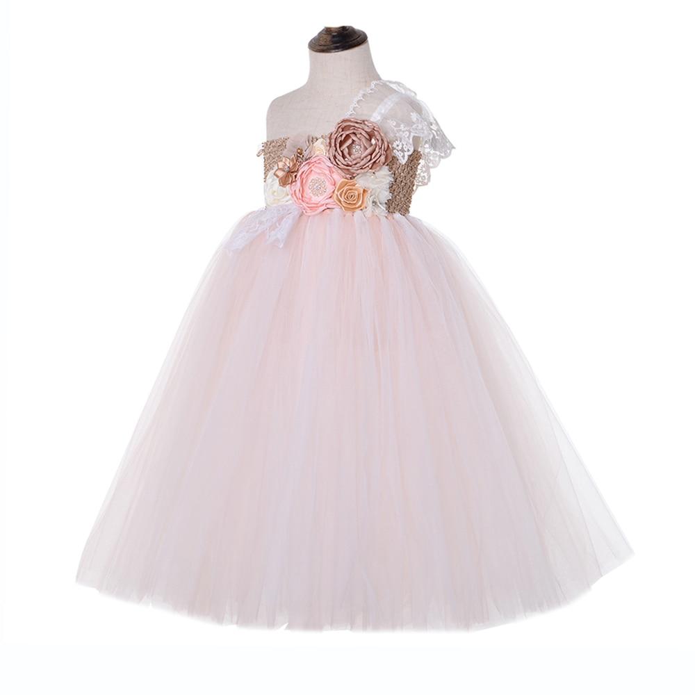 Lilacs Toddler Girl Christmas Tutu Dress Girls Frock Children Nova Ankle Length Lace One Shoulder Dress Kids Costume Princess 8T (10)
