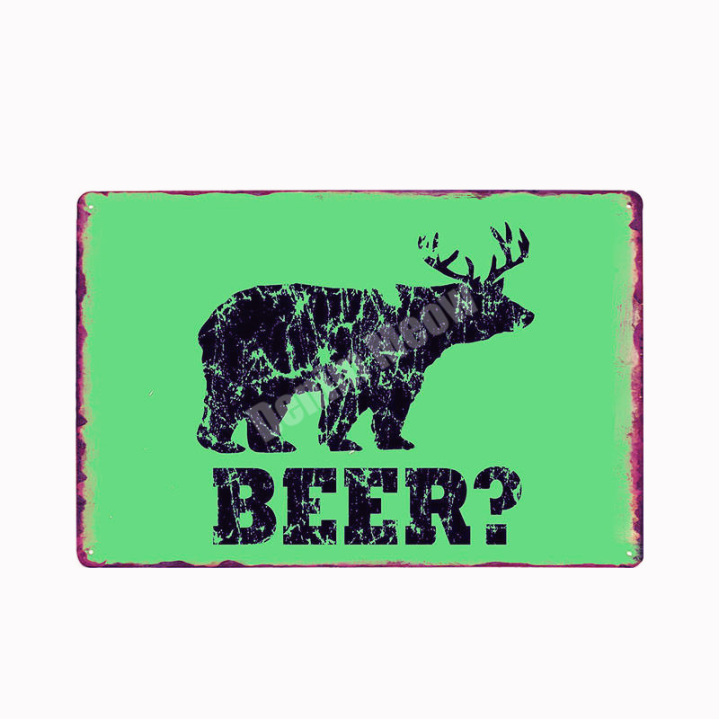 Good Beer Vintage Metal Tin Sign Bar Decoration Pub Casino Decor Wine Art Poster Whiskey Wall Poster Sticker Home Decor N273 in Plaques Signs from Home Garden