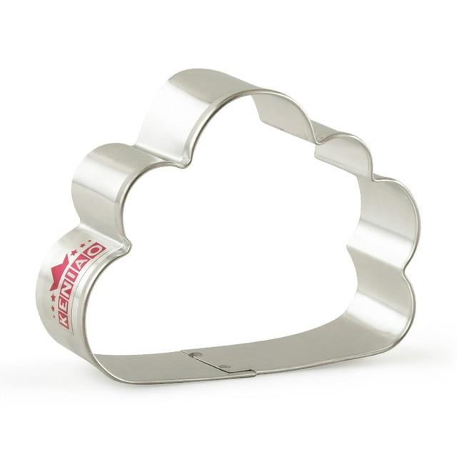 KENIAO Cortador de Biscoito de Cloud - Para crianças festa de aniversário - Fondant / Pastelaria / Pão - 7,5 x 9 cm - Inox