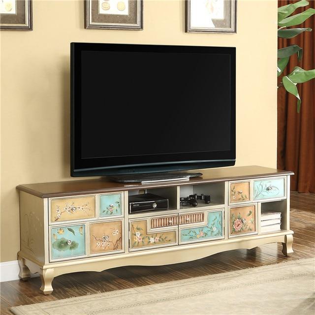 Retro moderno mueble TV madera maciza mesa de café salón de soporte ...