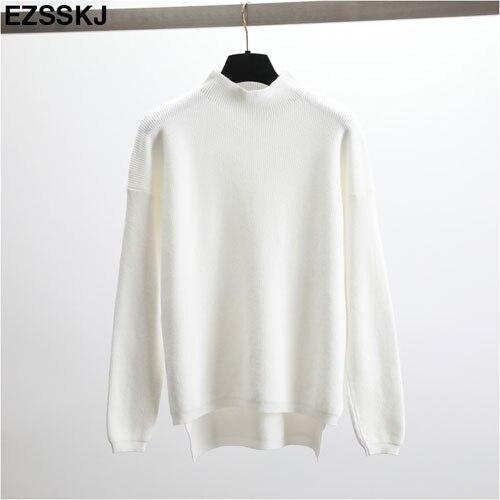 fc6a9e9ab4 Dropwow Korean Style Loose Sweater Women Pullover Casual Half ...