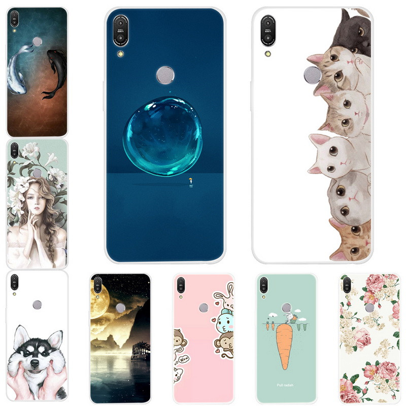 For ASUS Zenfone Max Pro M1 ZB602KL Case Silicone Soft TPU Back Cover For Coque ASUS Zenfone Max Pro M1 ZB601KL Case Print Capa
