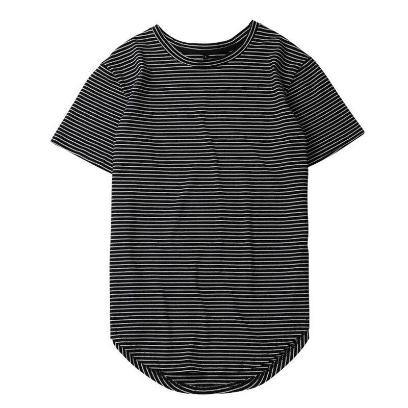 HZIJUE2017 Men's T-shirt summer Solid Color Curved Hem Long Line Camouflage Hip Hop Tshirt Elong Plain Kanye Tee Shirts Men Top 3