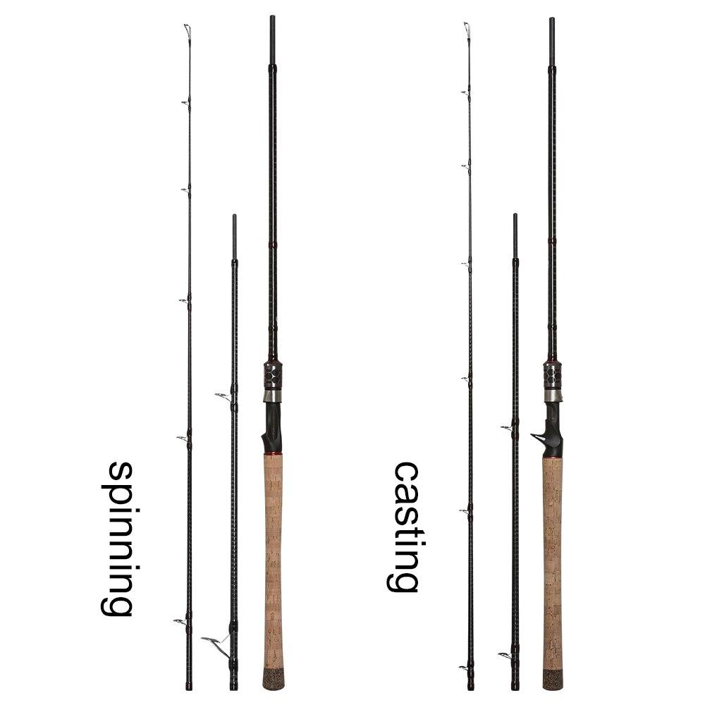 OBEI MONSTER HUNTER 803XXH coulée filature canne à pêche Fiber de carbone 2.38 m 20-80g puissance poisson-chat leurre voyage canne à pêche - 2