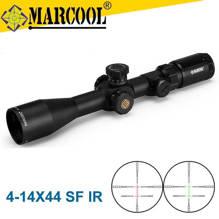 Marcool 4-14X44 SFIR Red&Green Illuminated Tactical Gear Optics Hunting Rangefinder Scopes Front Sight DHL Free Shipping marcool alt za3 5 25x56 sfir riflescope