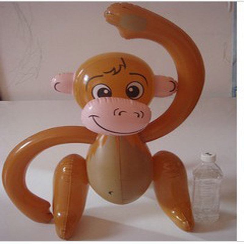 5pcs Inflatable Toys Cartoon Big Long Arm Monkey Inflatable Animals Children Toys Outdoor Sports Toys