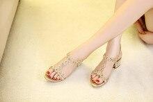 Weiblichen Sommer Hochzeit Sandalen 2016 Neue Koreanische Mode Diamant offene Sandale Sexy Schuhe Frauen Gold Lila Himmel Blau