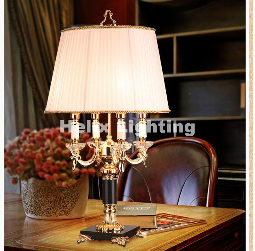 Newly European Modern Crystal Lamp Lighting Bedroom Bedside Lamp Luxury Fashion Crystal  ...