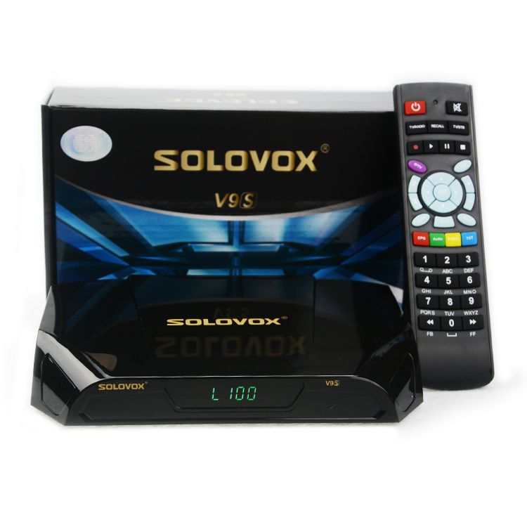 2018 HOT 5pcs SOLOVOX V9S DVB-S2 HD Satellite Receiver Support CCCAMD NEWCAMD цена