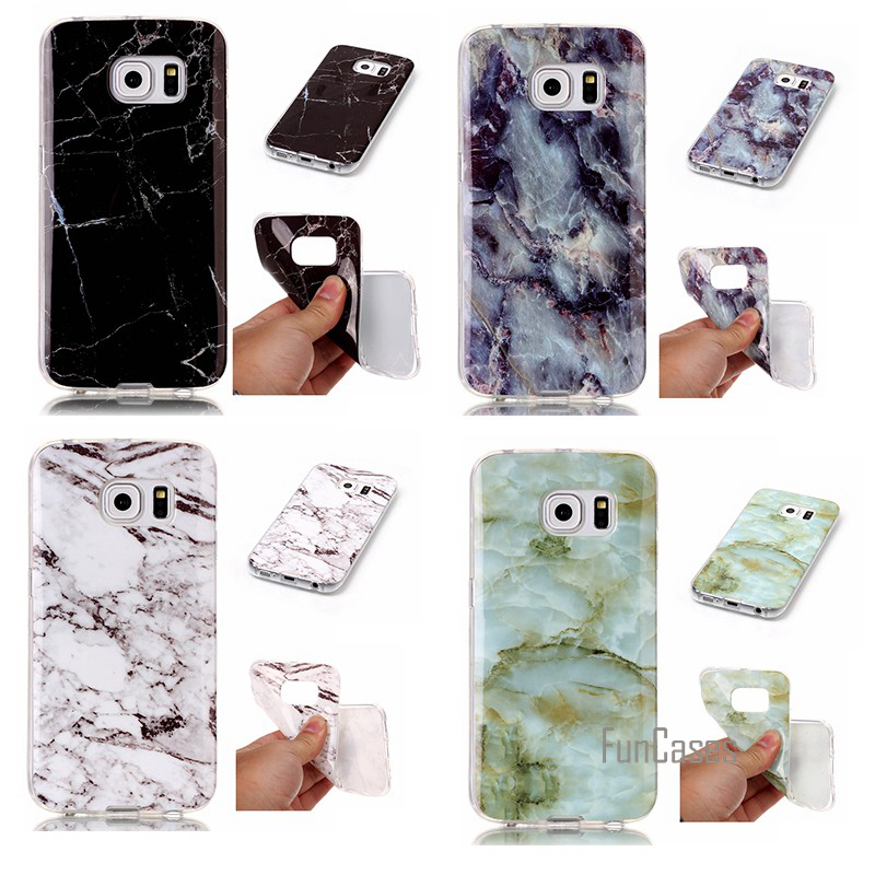 For Case Samsung Galaxy S3 S4 S5 S6 Edge S7 Mobile Cover Soft Smooth Cover Protective Shell Coque Capinha Etui Marble Rock Cases