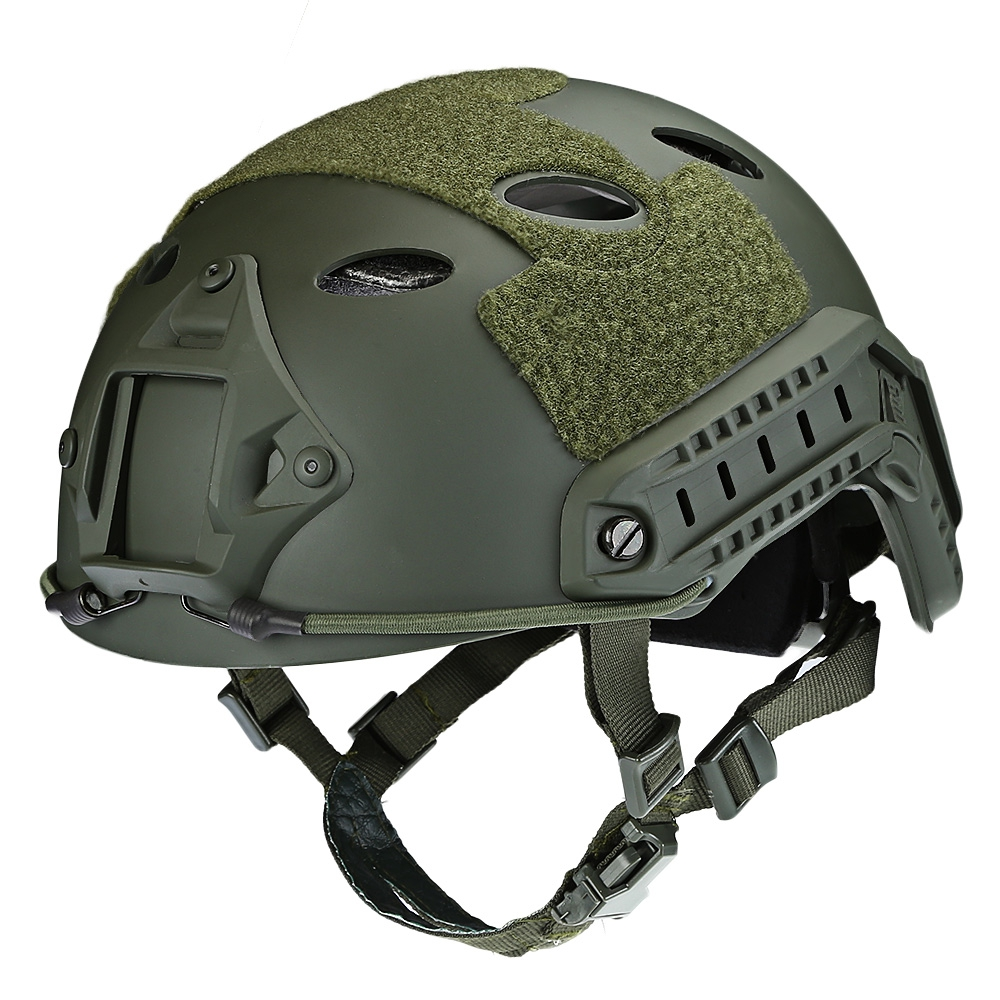 Standard Fast Ops Core Tactical FAST Helmet Outdoor War CS Game Airsoft Paintball Head Protector Helmet with 12 in 1 Headwear