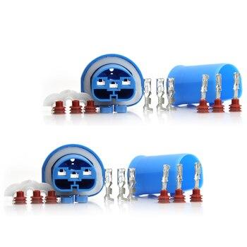 2 define Feminino + Masculino Adaptador Lâmpada HID Kit Conector Para 9004 HB1 9007 HB5 HID Halogênio Healamp Plugue À Prova D' Água #1648*2_1649*2