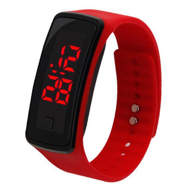 8 Colors New Fashion LED Sports Running Watch Date Rubber Bracelet Digital Wrist Watch Sports Watch Womens Mens Fitness Watch W