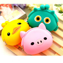 New Fashion Lovely Kawaii Candy Color Cartoon Animal Women Girls Wallet Multicolor Jelly