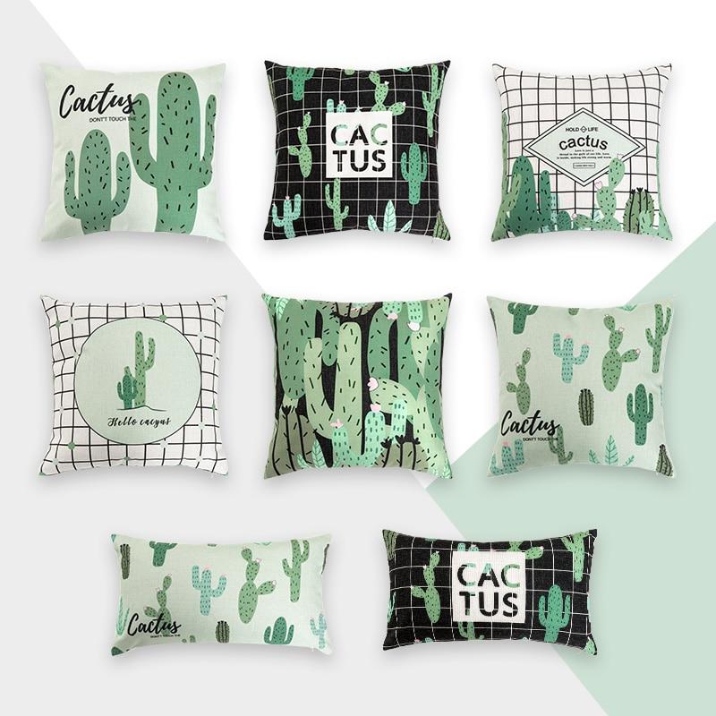 Pleasant Us 9 22 29 Off Nordic Decoration Home Pillow Cover Cactus Geometric Decorative Pillows Linen Green Scandinavian Throw Pillow For Sofa 45X45Cm In Dailytribune Chair Design For Home Dailytribuneorg
