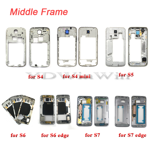 1pcs Middle Frame Housing For SAMSUNG Galaxy S4 S5 S6 S7 edge i9505 i9500 G900f G920f G925f G930f Bezel with Power Volume Button Lahore