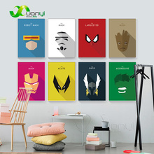 Nordic poster Cartoon Super Hero Canvas Prints Art Painting Home Decoration Wall Pictures For Living Room
