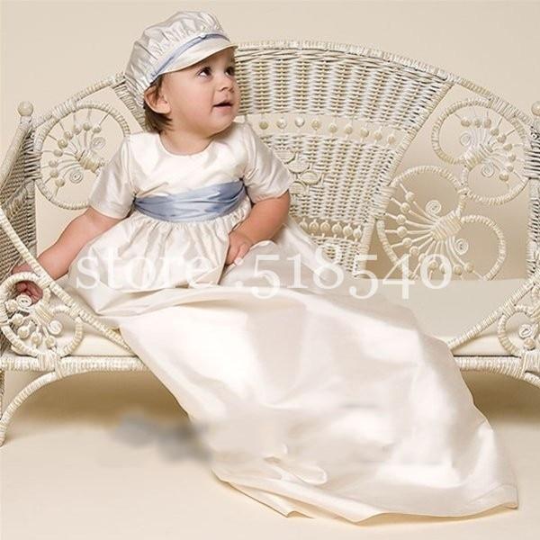 Mt 1 2015 Ivory Baby Boy Christening Gown Short Sleeve Baptism ...