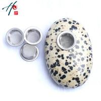 5-6 cm Sevimli Doğal Reki Kuvars Şifa Kristal Oval Taş Sigara Sigara Tütün Boru ile 3 Screeens Dekor noel Hediye