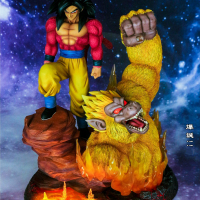 FC Dragon Ball Explosion Super Saiyan 4 Super Four Son Goku Kakarotto GK Statue Great Ape Anime Action Figures Anime Model